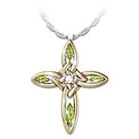 Infinite Blessings Peridot & Diamond Pendant Necklace
