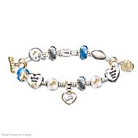 Go Lions! #1 Fan Charm Bracelet