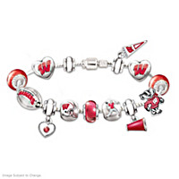 Go Badgers! #1 Fan Charm Bracelet