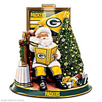 Green Bay Packers Talking Santa Tabletop Centerpiece