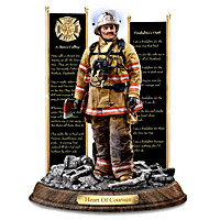 Firefighter Memorial Statue Supports Fallen Firefighters