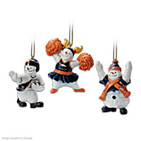 The Denver Broncos Coolest Fans Ornament Set