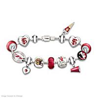 Go Seminoles #1 Fan Charm Bracelet
