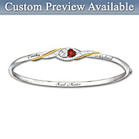 Two Hearts Become Soul Mates Personalized Bracelet
