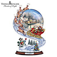 Thomas Kinkade Sharing Christmas Greetings Sculpture