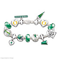 Go Oregon Ducks! #1 Fan Charm Bracelet