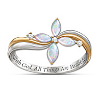 The Trinity Opal And Diamond Ring