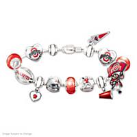 Go Buckeyes! #1 Fan Charm Bracelet