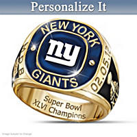 New York Giants Super Bowl Champions Ring