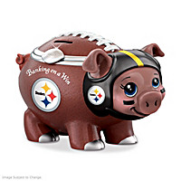 Banking On A Win Pittsburgh Steelers Football Piggy Bank