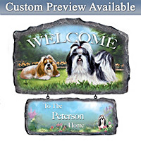 Lovable Shih Tzus Personalized Wall Decor