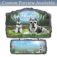 Lovable Schnauzers Personalized Wall Decor