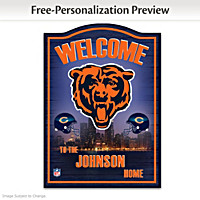 Chicago Bears Personalized Welcome Sign