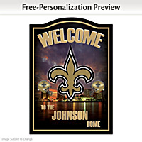 New Orleans Saints Personalized Welcome Sign