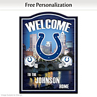 Indianapolis Colts Personalized Welcome Sign