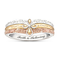 Faith Is Believing Diamond Ring