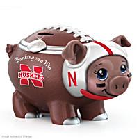 Banking On A Win University Of Nebraska Football Piggy Bank