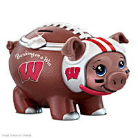 Banking On A Win University Of Wisconsin Football Piggy Bank