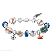Go Gators! #1 Fan Charm Bracelet