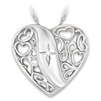 Pure Faith Diamond Pendant Necklace