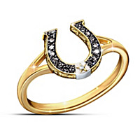 Black Beauty Sapphire & Diamond Ring