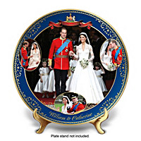 Royal Wedding William & Catherine Collector Plate