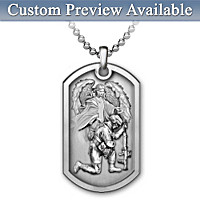 Bless This Soldier Personalized Pendant Necklace