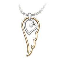 Wings Of An Angel Diamond Pendant Necklace