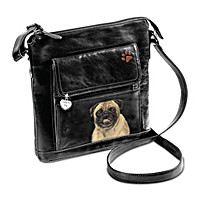 I Love My Pug Crossbody Bag
