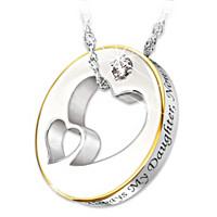 Always My Daughter Diamond Pendant Necklace