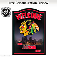 Chicago Blackhawks® Personalized Welcome Sign