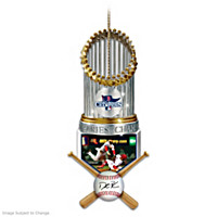 Red Sox 2013 World Series Champions Dustin Pedroia Ornament