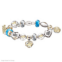 Go Panthers! #1 Fan Charm Bracelet