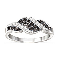 Midnight Serenade Diamond Ring