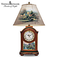 Thomas Kinkade Life's Golden Moments Clock Lamp