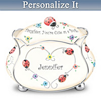 Daughter, You're Cute As A Bug Personalized Music Box