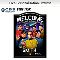 STAR TREK Wooden Welcome Sign Personalized With Name