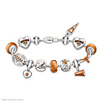 Go Texas Longhorns! #1 Fan Charm Bracelet