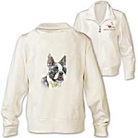 Doggone Cute Boston Terrier Women's Jacket