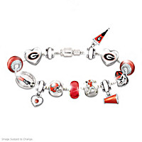 Go Bulldogs! #1 Fan Charm Bracelet