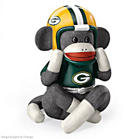 Green Bay Packers Sock Monkey Music Box