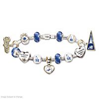 Go Dodgers! #1 Fan Charm Bracelet