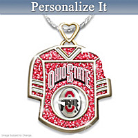 Get In The Game Buckeyes Personalized Pendant Necklace