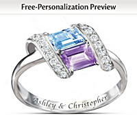 Rhythm Of Romance Personalized Ring