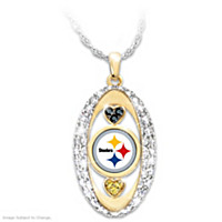 For The Love Of The Game Steelers Pendant Necklace