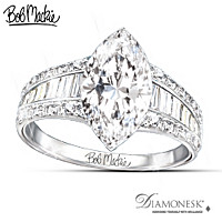 Bob Mackie Art Deco Diamonesk Ring