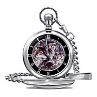 Spirit Of The Wolf Pocket Watch