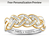 Strength Of Family Personalized Diamond Ring
