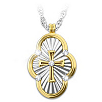 A Saint's Love Of Faith Diamond Pendant Necklace