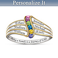 Journey Of Love Personalized Ring